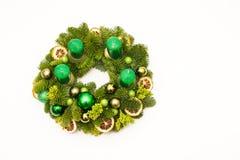 grön kran för advent Arkivbild
