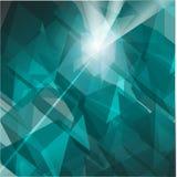 Grön kristall Arkivfoto