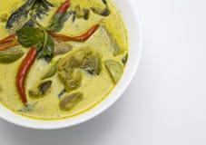 Grön kryddig feg thai mat för curry Royaltyfri Bild