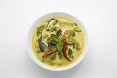 Grön kryddig feg thai mat för curry Arkivfoton