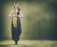 grön kvinna Royaltyfria Bilder