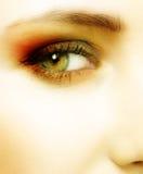 grön kvinna för öga Arkivbilder