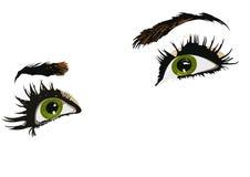 grön kvinna för ögon Fotografering för Bildbyråer