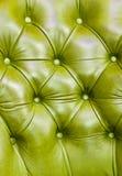 grön lädertextur Arkivfoton