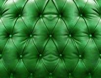 grön läderupholstery royaltyfri foto