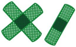 grön läkarundersökning tre för band Arkivfoto