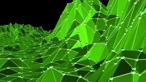 Grön låg poly bakgrund som vibrerar Abstrakt låg poly yttersida som cyberbakgrund i stilfull låg poly design polygonal royaltyfri illustrationer