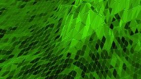 Grön låg poly bakgrund som vibrerar Abstrakt låg poly yttersida som ffantastic landskap i stilfull låg poly design lager videofilmer