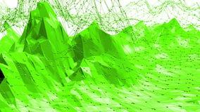 Grön låg poly bakgrund som vibrerar Abstrakt låg poly yttersida som komplexitetsbakgrund i stilfull låg poly design arkivfilmer