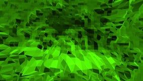 Grön låg poly bakgrund som vibrerar Abstrakt låg poly yttersida som unik bakgrund i stilfull låg poly design stock illustrationer