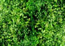 Grön lövverk för abstrakt Polygonal bakgrundstextur stock illustrationer