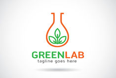 Grön labb Logo Template Design Vector, emblem, designbegrepp, idérikt symbol, symbol Arkivbild