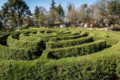 Grön labyrinthäcklabyrint & x28; Labirinto Verde& x29; på den huvudsakliga fyrkanten - Nova Petropolis, Rio Grande do Sul, Brasil Royaltyfria Foton