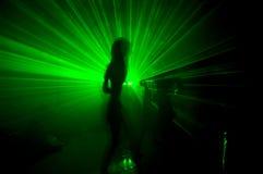 grön laser Arkivbild
