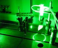 grön laser för stråle Fotografering för Bildbyråer