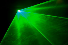 grön laser-lampa Royaltyfria Foton