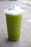 grön lattematchatea Arkivfoto