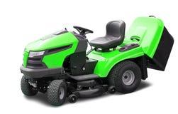 grön lawngräsklippningsmaskin Royaltyfria Bilder
