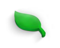 grön leaf 3d Arkivfoto