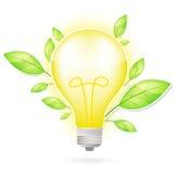 grön leaflampa för kula Arkivfoto