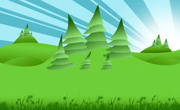 grön liggande Arkivfoton