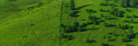 grön liggandepanorama Royaltyfri Fotografi
