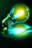 grön lightbulb Arkivfoto