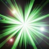 grön lightburst Royaltyfri Bild