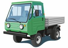 Grön liten lastbil Royaltyfri Foto