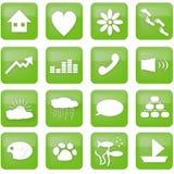 grön livsstil för knappar Royaltyfri Foto