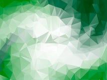 Grön ljus ram för vektor för triangelpolygonbakgrund Arkivfoto
