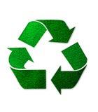 grön logoåteranvändning Arkivbild