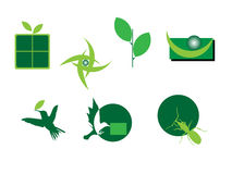 grön logo Royaltyfria Bilder