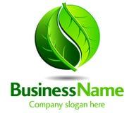 grön logo Arkivfoton