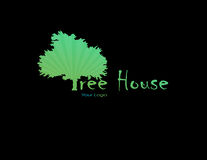 Grön logo Arkivbilder