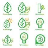 Grön logo Royaltyfri Fotografi