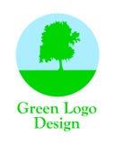 Grön logo. Royaltyfria Foton