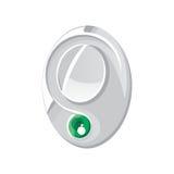 Grön logo för silver Arkivbild