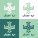 Grön medicinlogo Arkivfoton