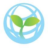 grön logovärld Arkivbild