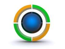 grön logoyellow för design Arkivfoton