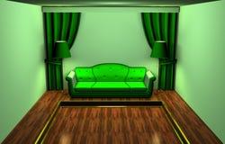 grön lokal Arkivfoton