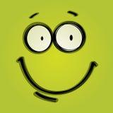 Grön lycklig framsida Arkivbilder