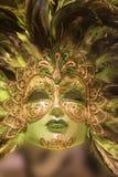grön lyxig maskering för guld Royaltyfri Fotografi