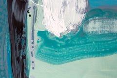 Grön målad bakgrund för vattenfärgabstrakt begrepp hand Royaltyfria Foton