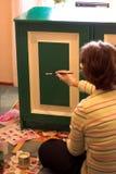 grön målarfärg Arkivbilder