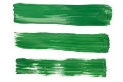 grön målarfärg för penseldrag Royaltyfri Foto