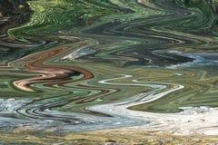 Grön målarfärgbakgrundsmarmor mönstrade akryltextur vektor illustrationer