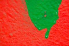 Grön målarfärgfläck Arkivbild