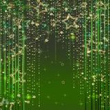 Grön magisk ljusabstrakt begreppbakgrund Royaltyfria Bilder